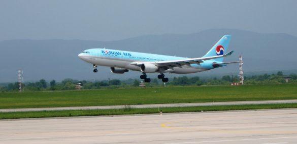 Авиакомпания Korean Air  между Владивостоком и Сеулом запустила лайнер Airbus A330-200