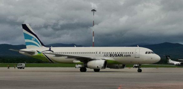 Авиакомпания Air Busan приступила к выполнению рейсов между Владивостоком и Пусаном