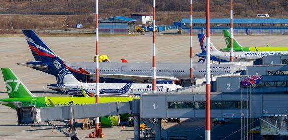Внутренний пассажиропоток в аэропорту Владивостока вырос на 62%