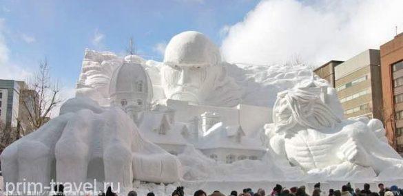 Снежный фестиваль и лыжи – отличный отдых на Хоккайдо