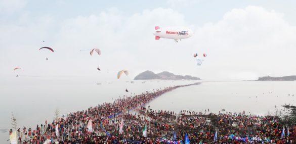 Моисеево чудо можно увидеть в Южной Корее в конце апреля