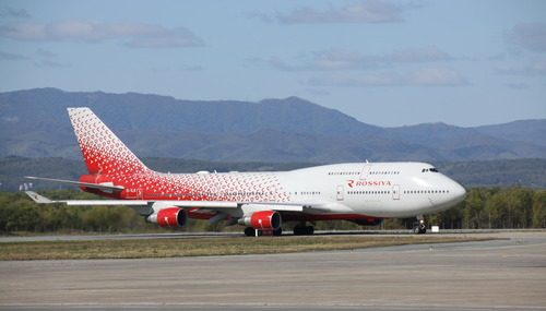Аэропорт Южно‐Сахалинска впервые принял Boeing-747 авиакомпании «Россия»