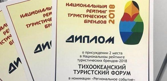 Приморский край собрал награды национального рейтинга туристских брендов-2018